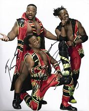 The New Day Signed 10X8 Photo WWE Big E Kofi & Xavier Woods AFTAL COA (7045)