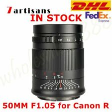DHL 7artisans 50MM F1.05 Full Frame Manual Prime Lens For Canon EOS RF R5 R6 Cam