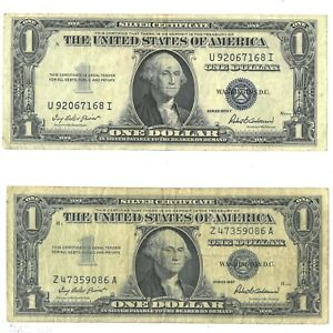 1935-F & 1957 US $1 Silver Certificate Lot of 2 181390p