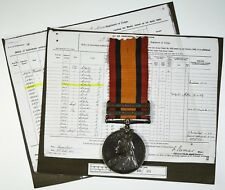 Queens South Africa Medal 2 Bars To 3423 PTE.W.CROWLEY. 5TH ROYAL FUSILIERS