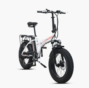 Folding Electric Bicycle 20 inch 500W 48V Battery Mountain Electric Snow Bike