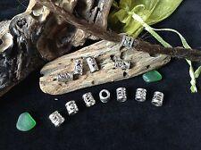 Dreadlock Beads **SUPER MINI MIX PACK** 12 x Silver Dread Beads 4-5mm Hole Size