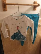 carters teal and white snow queen girls 5t pajamas set