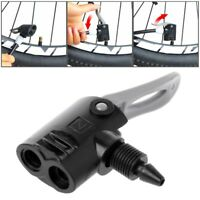 Bike Bicycle Pump Nozzle Valve Connector Hose Adapter Dual Head Pumping Parts