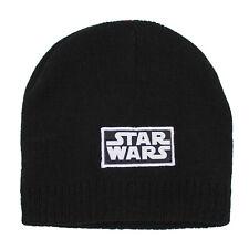 Boys Star Wars Black Skully Winter Beanie Hat Age 4-8 Years