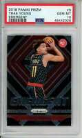 2018-19 Prizm Emergent #5 Trae Young PSA 10 RC Rookie Atlanta Hawks