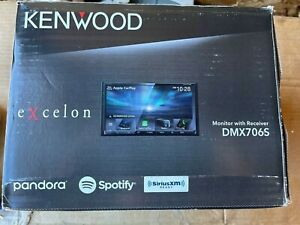 "Kenwood DMX706S 6.95"" Media Receiver SiriusXM SXV300V1 & License Plate Camera"