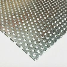 "Galvanized Steel Perforated Sheet .034"" x 12"" x 24"" - 3/32 Holes - 3/16 Centers"