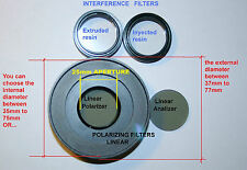 Polarizing linear Filter set microscope mikroskop compatible with All microscope