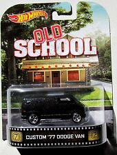 HOT WHEELS 2014 RETRO TV MOVIE CAR - OLD SCHOOL CUSTOM '77 DODGE VAN REAL RIDERS