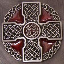 Pewter Belt Buckle Religious Celtic Cross NEW