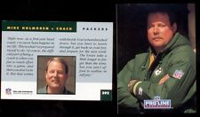 1992 Pro Line Portraits MIKE HOLMGREN Green Bay Packers Rookie Card