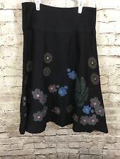 Zara Basic Black Embellished Multicolor Skirt Size Small
