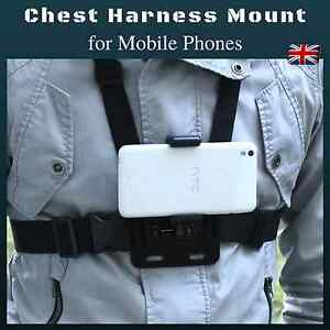 Chest Body Holder for Mobile Cell Phone Strap Harness Mount for iPhone Samsung