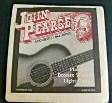 John Pearse Acoustic String Set 600l silvered Steel Phosphor Bronze Wound