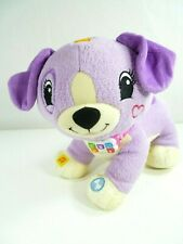 Leap Frog Read with Me Violet Talking Interactive Plush Stuffed Animal Dog Toy