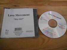 CD Pop Love Movement - Hey Girl (1 Song) Promo SONY / SEVEN DAYS MUSIC sc