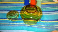 Vintage Amber Chip & Dip Bowl Set