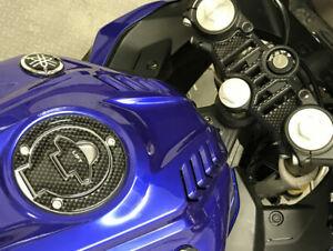 Carbon Fibre Effect Yoke & Filler Cap Cover to fit Yamaha YZF R125 2019 Onwards
