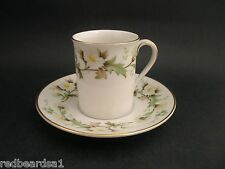 Royal Doulton Clairmont Daisies Vintage Bone China Demitasse Coffee Cup Saucer