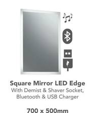 led bluetooth bathroom mirror with usb charger,demister and shaver socket point