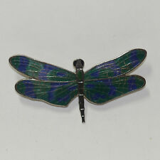 Vintage Enamel Cloisonné Dragonfly Brooch for Bishop Museum New