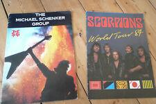 "2x THE SCORPIONS / MICHAEL SCHENKER GROUP Official Tour Programmes 10"" x 13"""