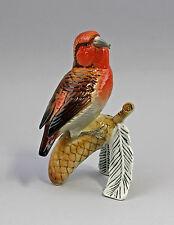 Bird Porcelain Figurine KREUZSCHNABEL Red/Brown Ens H15CM 9941466
