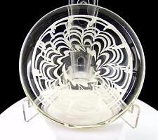 "FLYGSFORS GLASSWORKS KEDELV SIGNED WHITE WEBBED DESIGN 4 3/4"" ROUND BOWL 1954"