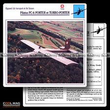 #014.05 PILATUS PC 6 PORTER & TURBO-PORTER - Fiche Avion Airplane Card