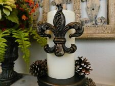 Fleur de Lis Candle Pin for Pillar Candles, Saints New Orleans, NOLA, Old World,