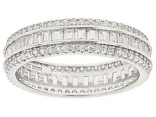 Bella Luce Rhodium Eternity Band Ring White Baguettes & Rounds 3.25ctw Sz.9