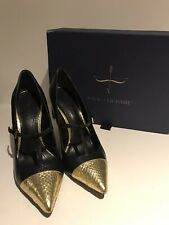 Pumps Black/gold, Pour La Victoire, Excellent Condition With Box