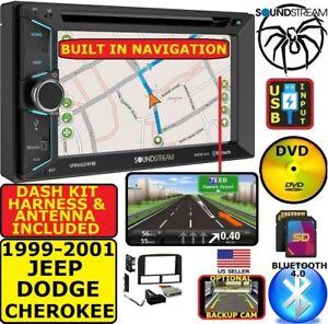 1999-2001 JEEP GRAND CHEROKEE GPS NAVIGATION CD/DVD BLUETOOTH USB USB CAR STEREO