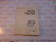 Hp 1600A Logic State Analyzer Operating and Service Manual