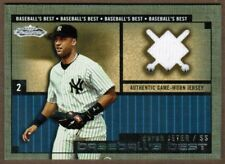 2002 Fleer Showcase Baseball's Best #1 Derek Jeter Yankees jersey (ref 30768)