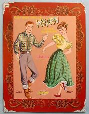 VINTAGE - WESTERN STYLE CUT-OUT PAPER DOLLS - J & J - #2766 - UNPUNCHED - 1958