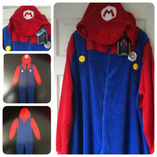 BNWT 'MARIO' Mens XL/XXL Onesie Sleepsuit PJs Primark Fancy Dress Nintendo Gamer
