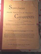 supplement au traité théorique et pratique de charpente mazerolle gaillardin 2ém