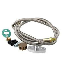 Stainless Turbo Oil Inlet Hose Feed Line 1/8 NPT Adapter Kit For T3 Turbocharger