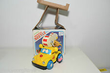 BIG 6974 VW VOLKSWAGEN BEETLE MUSICAL DRUM YELLOW NEAR MINT BOXED