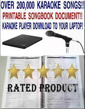 Karaoke-Harddrive-220,000 -Karaoke-Songs-Player & Printable song book