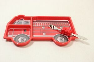 KidsFunwares Me Time Meal Set (Fire Engine), 3-Piece Set - Preowned