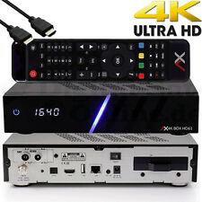 ➨ Ax HD61 4K UHD E2 Linux Combo Receptor Con DVB-S2X &dvb-c / T2 Tuner Pvr TV IP