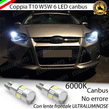 COPPIA LUCI POSIZIONE LED CANBUS 6000K BIANCO FORD FOCUS 3 MK2, MK3 BIANCO