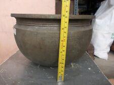 Indian Antique Brass Bronze Bell Metal Rice Curry Pot Vase Bowl Rare Rich Patina