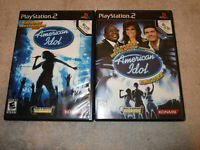 Karaoke Revolution American Idol and American Idol Encore PS2 Free Shipping