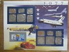 1977 United States Uncirculated Mint Set Panel - Postal Commemorative Society