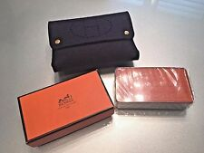 RARE HERMES Tarot Bridge Playing Cards & Blue Evelyne Felt Purse Case NEW IN BOX