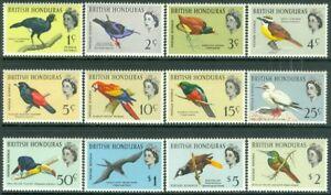 EDW1949SELL : BRITISH HONDURAS 1962 Scott #167-76 Birds Cplt set VFMOGLH Cat $85